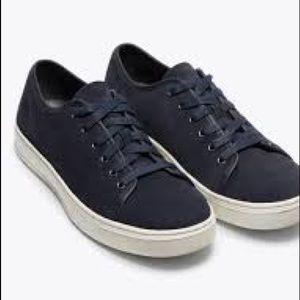 Vince Austin Men's Blue Suede Low Sneakers 7.5